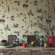 buy sanderson woodland chorus wallpaper john lewis