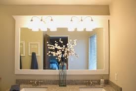 bathroom awesome how to frame bathroom mirror decorate ideas