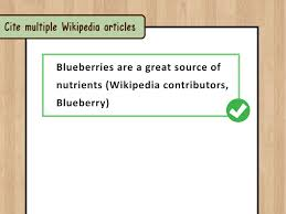 cite the best way to cite a wikipedia article in mla format wikihow