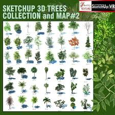 sketchup texture sketchup 3d trees components collection 2