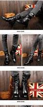 genuine leather men long boots new winter knee high motorcycle