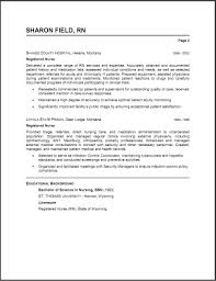 Resume Examples Format Registered Nurse Resume Template Resume Sample Format Intended For