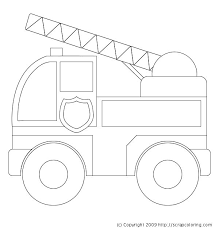 fire truck clipart coloring book pencil color fire truck