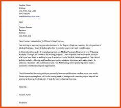 Cover Letter For Resume For Medical Assistant Cover Letter For Entry Level Medical Assistant