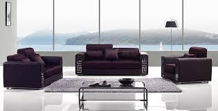 Versace Sofa Burgundy Fabric Modern Sofa