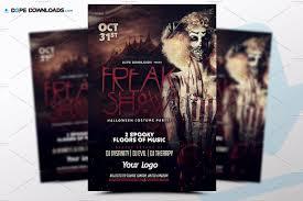 freak show hallooween flyer template flyer templates creative