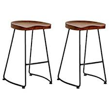 Wood Table With Metal Legs Amazon Com Mod Made Modern Potter Saddle Seat Metal Leg Wood