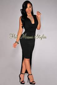 asymmetrical dress black draped faux wrap asymmetrical dress