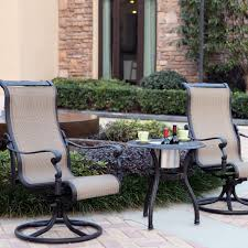 Patio Bistro Table Set by Darlee Monterey 3 Piece Sling Patio Bistro Set End Table With