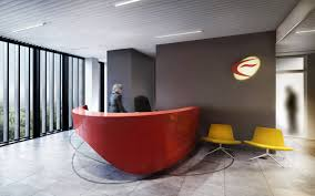 Rounded Reception Desk by Logo Reception Desk