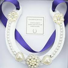 lucky horseshoe gifts lucky horseshoe real bridal wedding gift mauve white s https