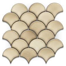 shop gbi tile u0026 stone inc scallops glossy ceramic mosaic wall