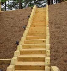 landscape timber stairs google search timber stairs