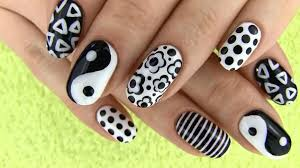 black and white nail art best videos and pictures