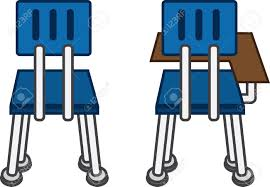 Student Chairs With Desk by Back Of Classroom Chairs With And Without Desk Royalty Free