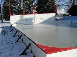 Backyard Rink Kit by Backyard Ice Rink Without Liner Outdoor Furniture Design And Ideas