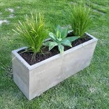 Concrete Planter Boxes by Parterre Surélevé Et Bac à Fleurs En Béton U201310 Idées Modernes Et