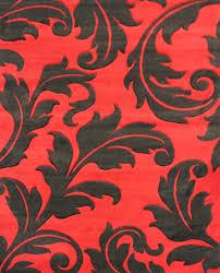 Leaf Area Rug Red And Black Carpet Rugs U2022 Carpet