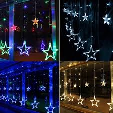 New Year Garden Decoration by 2 5m X 1m New Year Christmas Garlands Led Start Christmas Lights