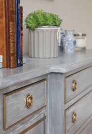 dresser makeover with chalky white washed over anthracite chalk