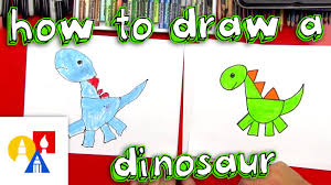 how to draw a dinosaur with shapes youtube