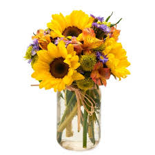 sunflower bouquets sunflower jar at send flowers