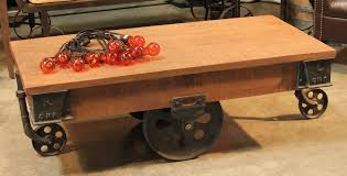 railroad cart coffee table edison rail cart coffee table with wheels town country event rentals