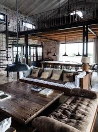 industrial home interior renovated railroad depot industrial lofts and gold