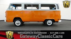 orange volkswagen van 1978 volkswagen transporter gateway classic cars indianapolis
