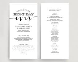 wedding programs printable wedding programs wedding program instant wedding