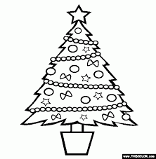 coloring pages of a christmas tree aecost net aecost net