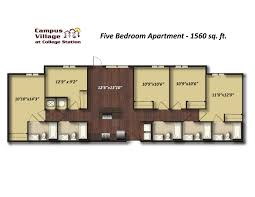 5 Bedroom Apartment Floor Plans by 2 Bedroom Apartments College Station