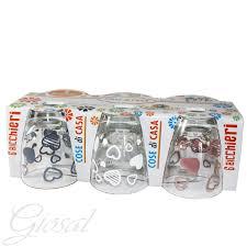 set bicchieri set di bicchieri domino cuori acqua vino vetro fantasia colorati