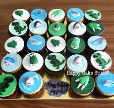 dinosaur cupcakes dinosaur happy cake studio