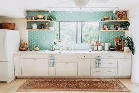 island style kitchen project spotlight elana s airy island style kitchen fireclay tile