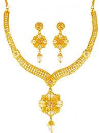 earring necklace set gold images 22k gold two tone necklace set ajns63290 us 2 746 22k jpg