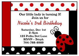ladybug birthday invitations wblqual com