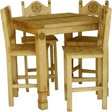 rustic pub table and chairs pub square dining table set and pine pub squaretable
