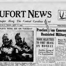 funeral plets the beaufort news beaufort n c 1912 1948 september 17 1942