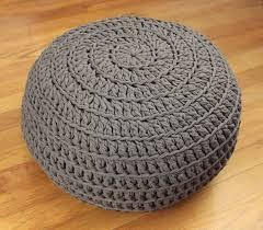 Ottoman Pillow Free Crochet Pattern Poof Floor Pillow Pouf Ottoman Crochet