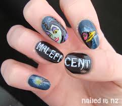 disney nail art 7 sleeping beauty u0026 maleficent