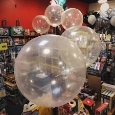 balloons with gifts inside balloon bouquet delivery balloon decor gift shop in seattle