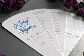 wedding ceremony program sle 4 blade petal program fan curly style wedding ceremony programs