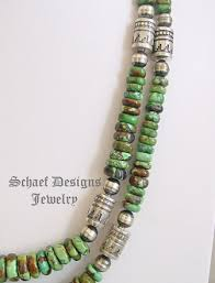 turquoise necklace set images Schaef designs high end green turuqoise sterling silver tube jpg