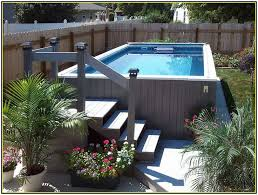 Swimming Pool Backyard Designs by Best 20 Above Ground Pool Landscaping Ideas On Pinterest
