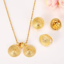 bridal gold ring aliexpress buy gold jewelry set pendant necklaces