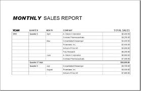 Monthly Sales Report Template Excel Monthly Sales Report Template At Http Bizworksheets
