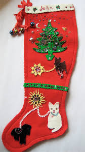 119 best antique vintage christmas stockings images on pinterest