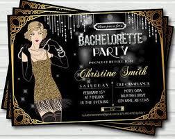 bachelorette invitation 1920s great gatsby bachelorette party