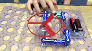 we create a snap circuits helicopter using the guide youtube